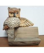 Vintage Ceramic Owl Recipe Holder - $10.69