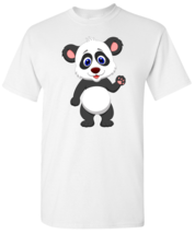 Panda Cartoon White T shirt - $14.99