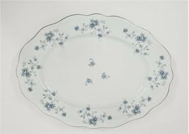"Johann Haviland Blue Garland Oval Platter 13"" Bavaria Germany - $28.70"