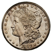 1887-S Silver Morgan Dollar in Choice BU Condition, Excellent Eye Appeal - $178.19