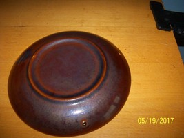 Vintage Kitchen Brown Drip Pottery Saucer Plate - $19.80