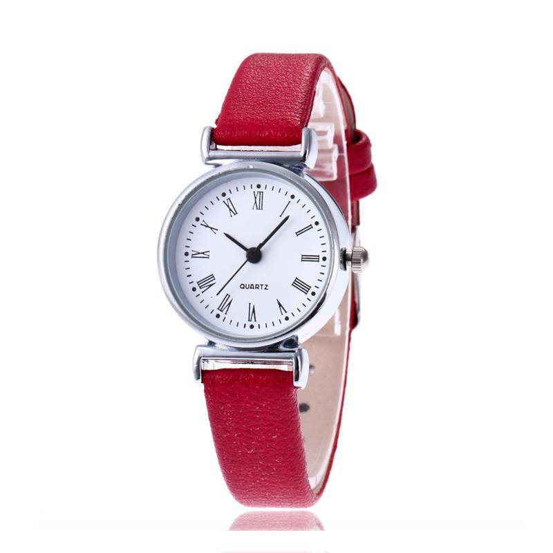 New Luxury Brand Women Watch Ultra Thin Vintage Leather Band Quartz Watch Fashio image 3