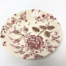 """Johnson Brothers ROSE CHINTZ 5.5"""" Cup Plates  Made in England (Black Mark)  - $11.01"""