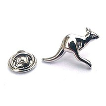 kangaroo silver  Badge Lapel /tie Pin Badge 3d effect with clip for rear
