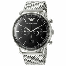 Emporio Armani Men's Quartz Stainless Steel Chronograph 43mm Dial Watch ... - $183.15