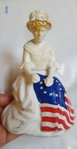 Avon decanter figurine Betsy Ross flag maker woman lady bottle figure 19... - $25.23
