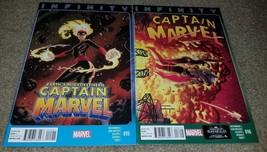 1 set 2 Comics Captain Marvel 15 16 NM Infinity Thanos Tie-in Movie 10/1... - $1.99