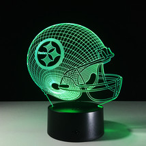 Pittsburgh Steelers Football NFL 3D Light LED Helmet 7 Color Changing Desk Lamp - $30.99