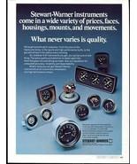 Vintage STEWART-WARNER Racing Gauges & Instruments, 1973 Advertisement +... - $11.83
