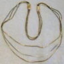 Avon Triple Strand Necklace & Bracelet Chain Set 2 Tone Gold/Silver VTG ... - $19.75