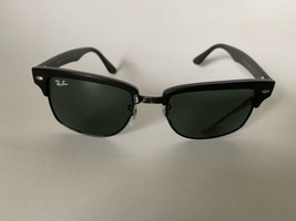 Ray-Ban Clubmaster Square Sunglasses RB4190 877 52 Black Frame Green Lens - $53.20