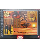 Educa Colors of Africa 1000 pc Jigsaw Puzzle Photo Array Collage - $19.79
