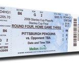 2009 NHL Stanley Cup Finals Canvas Mega Ticket - Pittsburgh Penguins