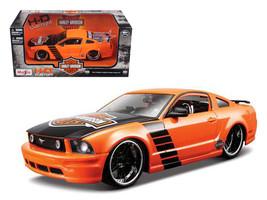 2006 Ford Mustang GT Harley Davidson Orange 1/24 Diecast Model Car by Maisto - $37.01