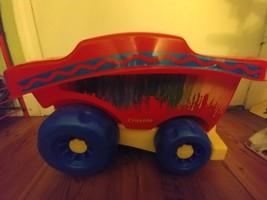 Crayola Building Blocks Pull Wagon with 50 Mega Bloks - $30.00