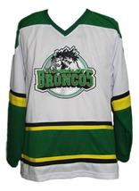 Any Name Number Humboldt Broncos Junior Hockey Jersey White Any Size image 1