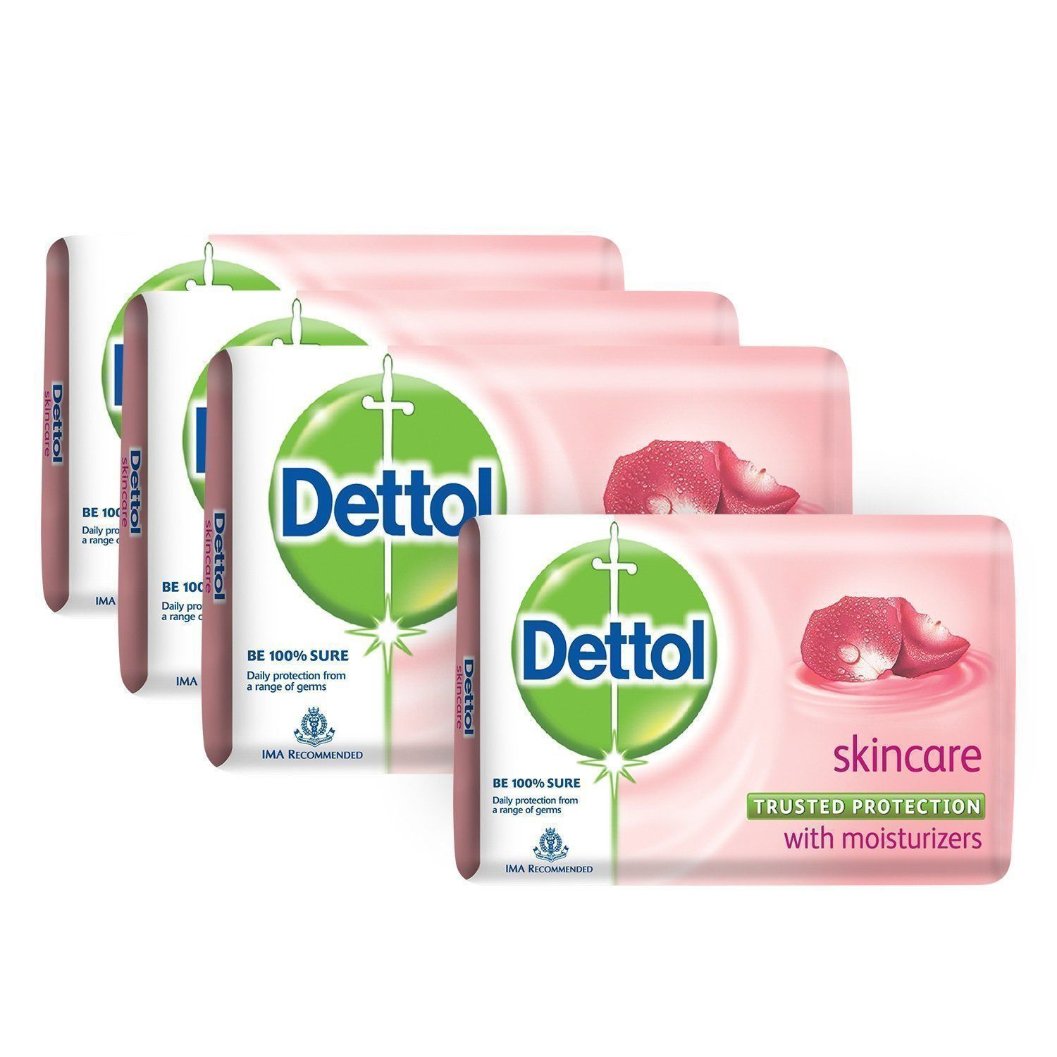 Dettol Skin Care Trusted Protection Bar Soap 75 gm X 12 pack with fss