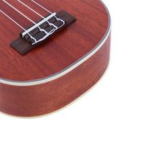 """Glarry UC205 21"""" Full Sapele Wood Heart-shaped Sound Hole Ukulele Coffee - $26.45"""