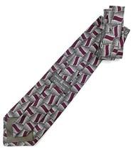 "New ROBERT TALBOTT ""STUDIO"" X- LONG 63"" Neck Tie Purple & Gray Silk Desi... - $13.95"