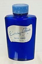 Vintage Evening In Paris Talcum Powder Jar Pretty Full 3 x 5 inches - $29.70