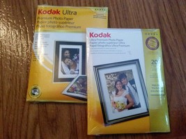 Kodak Ultra/Ultra Premium Photo Paper, 10 mil, High-Gloss, 4 x 6, 20 Sheets/Pack - $17.81