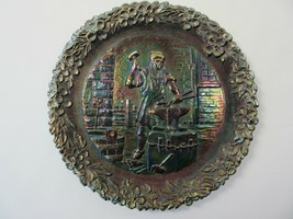 Vintage Fenton Carnival Glass Collector Plate No. 3 Blacksmith James Ree... - $4.99