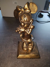 Extremely Rare! Walt Disney Minnie Mouse Old Bronze Color Figurine Statue - $366.30