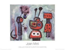Joan Miro-L'Oiseau au regard-1995 Poster - $42.08