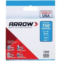 "Arrow 50524 T50 Staples, 1,250 pk (5/16"") - $21.23"