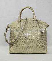 NWT Brahmin Large Leather Duxbury Satchel/Shoulder Bag in Silver Birch Melbourne image 2