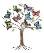 """26"""" Stunning Butterfly Tree Wall Decor with 9 Butterflies on Branches Al... - $118.79"""