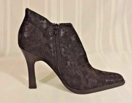 NWOB Skechers Black heels 7 NEW shoes lace design 4.5 inch heels ankle b... - £15.48 GBP