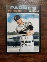 x1 2020 Topps Heritage Base #97 Wil Myers San Diego Padres Baseball Card... - $1.99