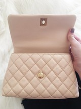 100% AUTHENTIC CHANEL 2017 CAVIAR QUILTED MINI COCO HANDLE FLAP BAG BEIGE GHW image 11