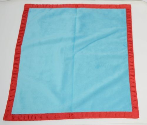 Oh Mint 3252207AQRED Mini Minky Blankie Colors Aqua and Red