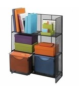 Black Metal File Cart Drawers Storage Office Supplies Tier Shelf Letter ... - $123.65