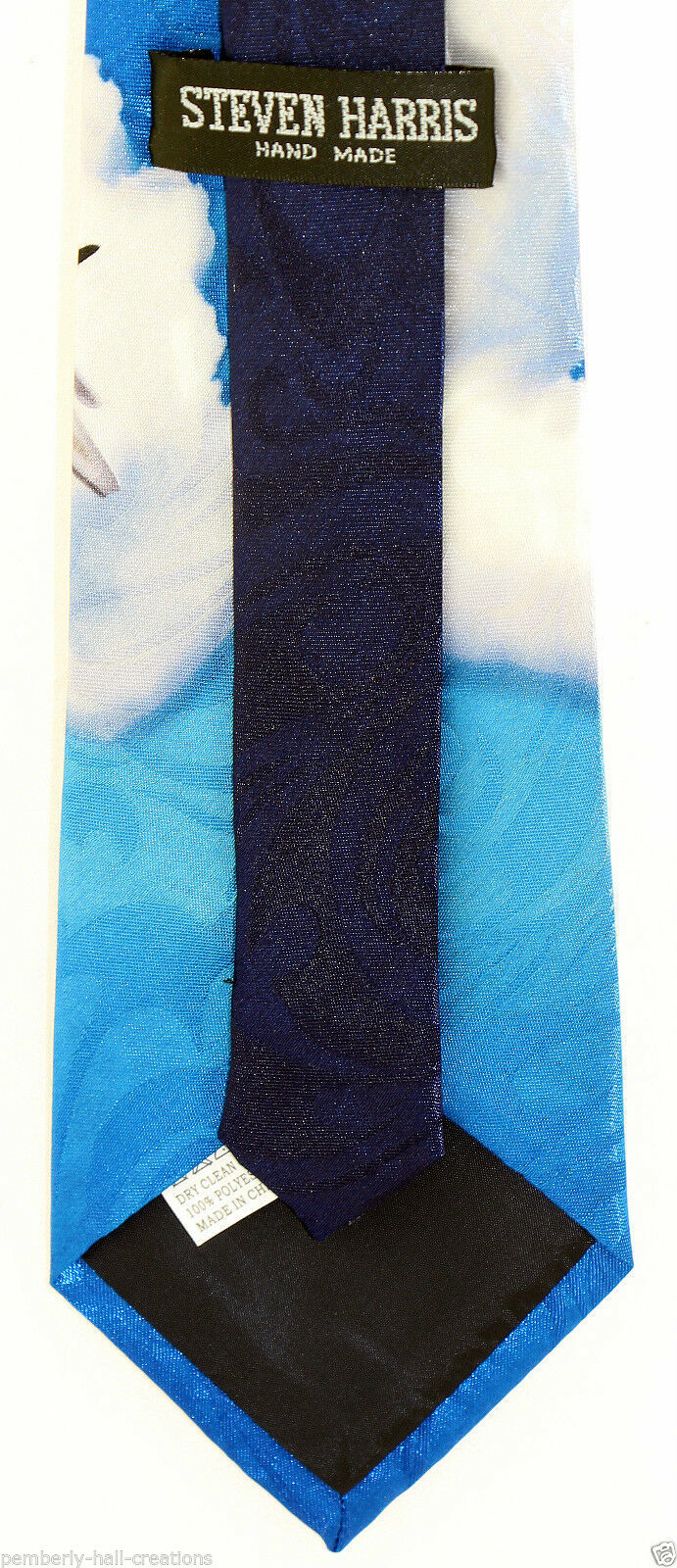 US Air Force Men's Necktie American Military Pilot Airplane Jet Blue Neck Tie  image 3