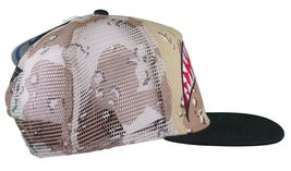 Neff Men's Desert Storm Camo Thunderbolt Mesh Snapback Baseball Hat Cap NWT image 3