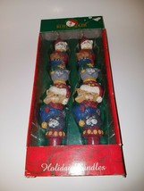 Vintage Kurt Adler Christmas Candlesticks with Cats Taper Candles New in Box - $29.99