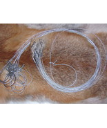 """12 Survival Snare good for mink/rabbit size 36""""x1/16(trapping,traps,snar... - $14.90"""