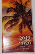 """2019-2020 2-Year Pocket Planner """"Palm Tree Sunset""""For School, Work,Appoi... - $2.00"""