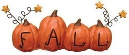 Country FALL RESIN PUMPKIN Block Sign Autumn Thanksgiving Farmhouse Shel... - $18.99