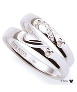 Disney × THE KISS Mickey mouse Diamond Pair ring Sterling Silver 925 Men... - $497.00