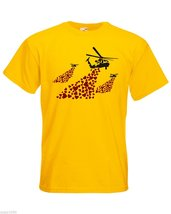 Mens T-Shirt Banksy Helicopters Hearts Bombs, Helicopter TShirt, Love Shirt - $24.74