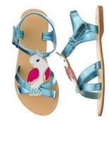 Gymboree Jungle Brights Cockatoo Bird Metallic Blue Sandals Shoes Girl S... - $19.99