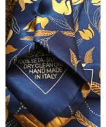 Fathers Day Tie Mens Silk Italian Italo FerreTTi Italy Handkerchief SILV... - $59.99