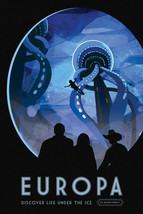 """11""""x16"""" NASA Europa Discover Life Under the Ice Future Space Travel Post... - $12.38"""