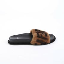 Fendi Zucca Fur Slide Sandals SZ 37 - $465.00