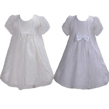 Baby Lace Christening Dress with Cape White Ivory 3 6 9 12 18 24 Months - $30.32