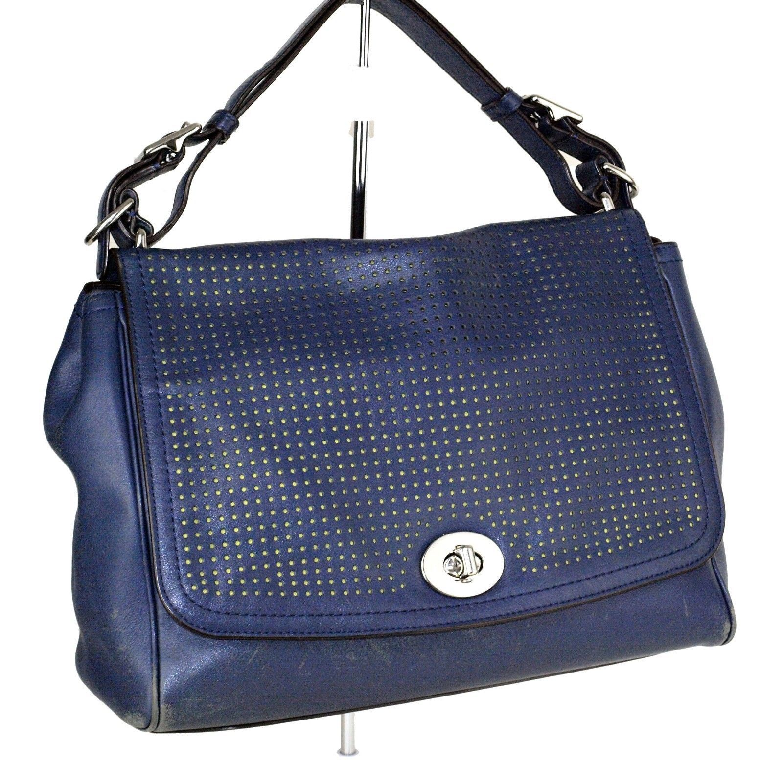 S l1600. S l1600. Previous. 100% Authentic COACH Legacy Perforated Leather  Romy Navy Hand Bag Used · 100% Authentic COACH ... 1b20fc6c66dcb